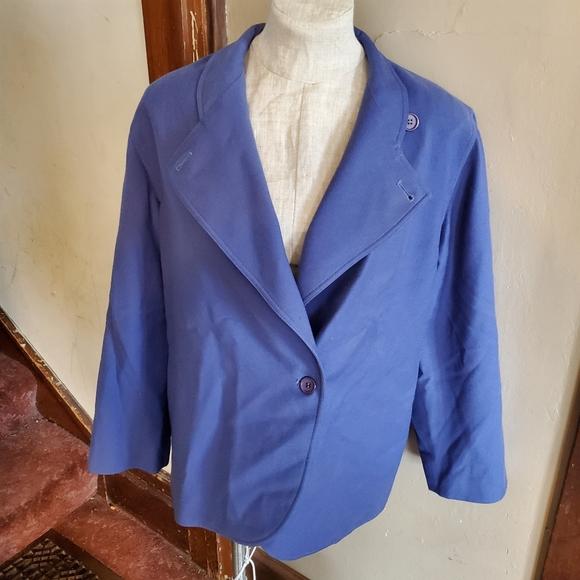 Vintage Christian Dior blue wool blazer jacket 12